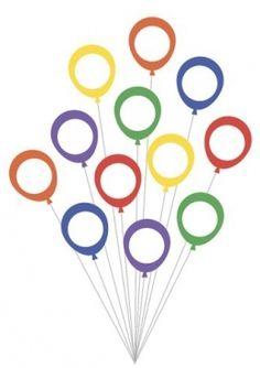 Раскраска Цветные воздушные шарики, скачать и распечатать раскраску раздела Шаблоны для пальчикового рисования
