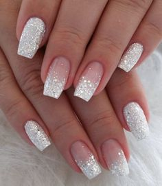 Fall Acrylic Nails, Acrylic Nail Designs, White Nail Designs, Sparkle Nail Designs, Christmas Acrylic Nails, Neutral Nail Designs, Crazy Nail Designs, French Manicure Designs, Simple Acrylic Nails