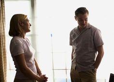 Kate Winslet and Leonardo DiCaprio on-set of Revolutionary Road