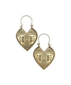 Look at this #zulilyfind! Gold Engraved Drop Earrings by ZAD #zulilyfinds
