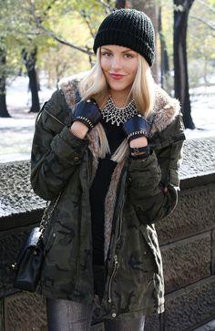 shea marie cheyenne meets chanel identify new york snow zara army camo fashion blogger blog style nyc  army13