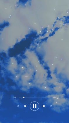 clouds moving time lapse with spotify music player overlay