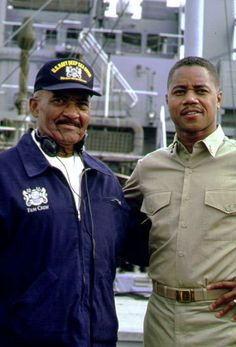 """Men of Honor"" Cuba Gooding Jr. with the real Carl Brashear"