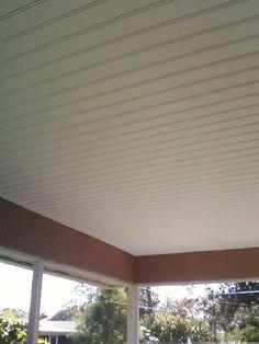 New Custom Porch Ceiling Built Out Of Vinyl Soffit