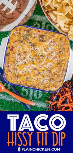Taco Hissy Fit Dip - Football Friday - Plain Chicken Taco Hissy Fit Dip Recipe - You will definitely Ground Beef Taco Dip, Ground Beef Cream Cheese, Ground Beef Taco Seasoning, Velveeta Recipes, Cheese Dip Recipes, Recipes Appetizers And Snacks, Healthy Appetizers, Beef Nachos, Hot Taco Dip