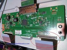 Placa T-CON ou T-COM TV LG LED 50LN5400.