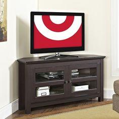 Corner Tv Stand - Espresso/wood