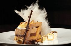 The all-American smore. Indulge in milk chocolate mousse with toasted marshmallow smoked chocolate gel. (Four Seasons Hotel Chicago)