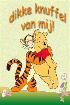 Dikke knuffel van mij! Pooh Bear, Tigger, Winnie The Pooh, Daily Pictures, For Your Health, Emoticon, Hugs, Disney Characters, Fictional Characters
