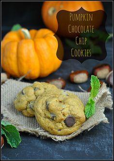 pumpkin chocolate chip cookies | pumpkin desserts & sweets, pumpkin recipes