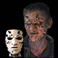 Asmodeus horned face prosthetic mask