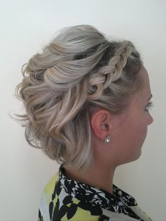 Fifth Avenue On Location Hair & Airbrush Makeup LLC - Hawaii Hair and Makeup Artists - Updo wedding hairstyle with braids Prom Hairstyles For Short Hair, Short Hair Updo, Braided Hairstyles For Wedding, Trending Hairstyles, Short Hair Cuts, Curly Hair Styles, Hairstyle Wedding, Updo Hairstyle, Girl Hairstyles