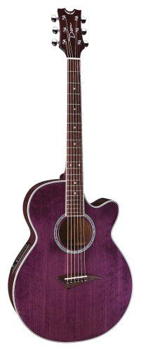 Dean Performer Mini Jumbo Acoustic-Electric Cutaway Guitar with Tuner Preamp Trans Purple Jamie Grace, Dean Guitars, Britt Nicole, Owl City, Cutaway, Acoustic Guitar, Electric, Music Instruments, Brass