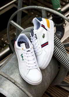 Lacoste T-Clip Converse Sneakers, Casual Sneakers, Adidas Stan Smith, Lacoste, Shoes, Fashion, Casual Trainers, Moda, Zapatos