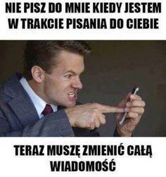 Haha Funny, Lol, Funny Lyrics, Polish Memes, Weekend Humor, Funny Mems, Happy Photos, Just Smile, Best Memes