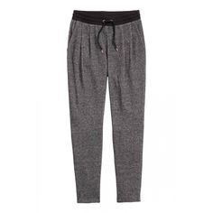 9aa8b83f60 Joggers: Joggers in marled sweatshirt fabric with an elasticated drawstring  waist, side pockets and tapered legs with pleats at the front.