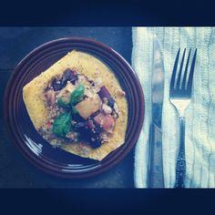 Quinoa, Apple, & Beet stuffed Acorn Squash  GLUTENFREE- DAIRYFREE- VEGAN- SOYFREE- NUTFREE