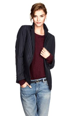 11 blazers that'll class up any outfit - Chatelaine Perfect pinstripe Jacket in Wool Blend H&M $70