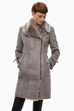 Faux Fur And Suede Biker Coat - Luxe Sport | Adolfo Dominguez shop online