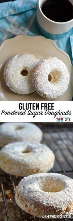 Who says eating gluten free has to taste bad? You have to try this simple and tasty Gluten Free Powdered Sugar Doughnuts Recipe. Can be made dairy free too. Such a yummy breakfast treat!