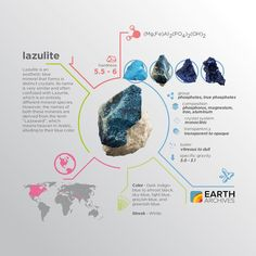 Lazulite gets its name from two languages - the Arabic 'lazaward' and the German 'lazurstein' - both which refer to the mineral's blue color.