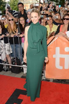 Rachel McAdams in ELIE SAAB Ready-to-Wear Fall/Winter 2012-13 for 'To The Wonder' Premiere at the 2012 Toronto Film Festival.