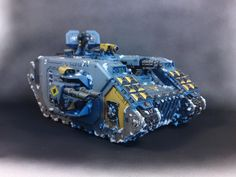 Space Wolves Land Raider: Wargear: Hull/Sponson TL assault/lascannons; pintle/multi-melta; HK-missile.