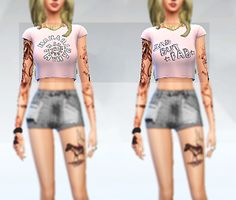 Sims Addicted: 2 vintage shirts • Sims 4 Downloads