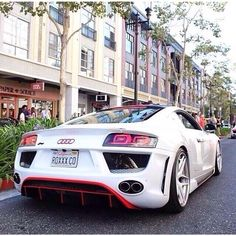 White Audi R8  Tag a friend who would drive it!
