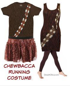 Easy Chewbacca Running Costume Idea