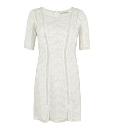 Myrine Dress - All Saints 100% cotton, lace inserts, broderie anglaise, embroidery detailing. UK10 measure 77.5cm from back neck to hem
