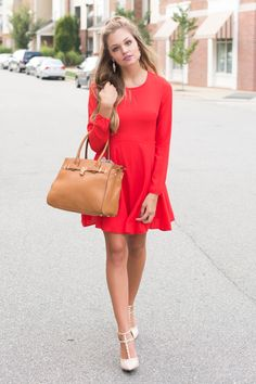 Red dress #swoonboutique