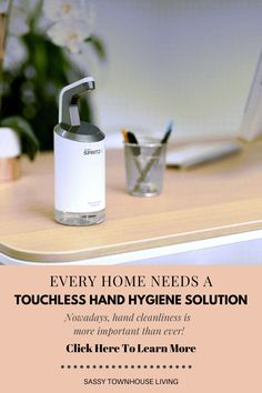 Every Home Needs A Touchless Hand Hygiene Solution - Sassy Townhouse Living - Nowadays, hand cleanliness is more important than ever. Our good hand hygiene habits can mean the difference between sickness and health. At first, hand sanitizers were almost impossible to buy and that was extremely frustrating and scary. #handsanitizer #touchlesshandsanitizer #sanitize