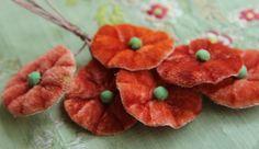 vintage gorgeous millinery flower bloom velvet hat trim new old stock flapper cloche bonnet regency wired stems
