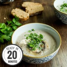 Vegetarian Mushroom Soup - Quick, Creamy, Delicious. We sort out the myths from the facts to make sure you get a great soup each and every time.