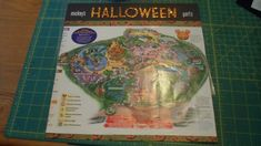 12X12 Mickey's Halloween Party park map layout. Disney Land, Vacation, October 2015. Pattern Paper and glitter thickers