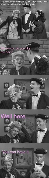 """Lucille ball and young Richard Crenna. """"Mrs. Ricardo, I love you. I love you!"""""""