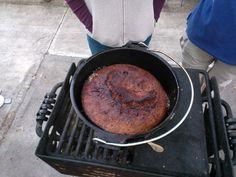 Paleo Cinnamon Coffee Cake in a Dutch Oven | Northwest Cavegirls