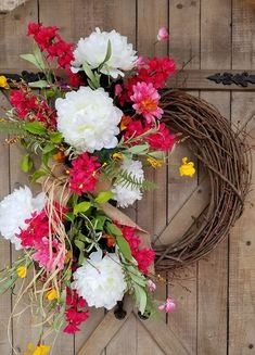 Front Door Wreath, summer Peony wreath, spring wreath, Outdoor wreath, wedding wreath, farmhouse wedding, Grapevine wreath, home dec by FarmHouseFloraLs on Etsy