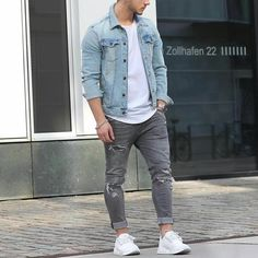 mens_fashion - 51 Chic White Sneaker Outfit You've Ever Laid Eyes On Casual Wear, Casual Outfits, Men Casual, Fashion Outfits, Dope Fashion, Sneakers Fashion, Mens Fashion, Daily Fashion, Style Fashion