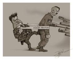 Відомий карикатурист Юрій Журавель ось так побачив сьогоднішню ситуацію...Ми сьогодні бачимо таке ж саме! Додана 8 червня 2015