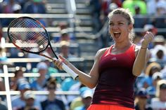 Second seed Simona Halep and two-time Wimbledon champion Petra Kvitova reached their first US Open quarter-finals while old-hands Victoria Azarenka and Flavia Pennetta also went through. Flavia Pennetta, Kvitova Petra, Wimbledon Champions, Simona Halep, Us Open, Tennis Racket, Finals, Victoria, Sports