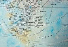 World map made of names