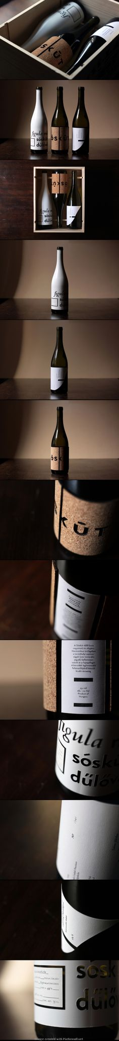 Sóskút Wine | Nice #packaging design with a strong typographical element | IG The Dieline #taninotanino #vinosmaximum