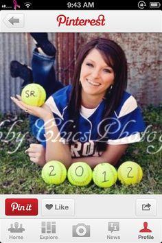 Softball pose