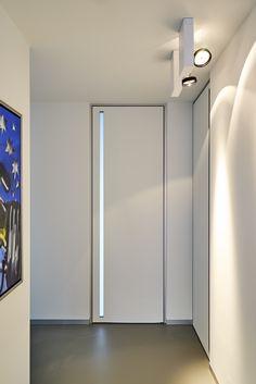 Modern internal door from floor to ceiling with a built-in handle - ANYWAYdoors