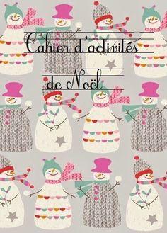 Un joli cahier d'activité à réaliser pour les enfants autour du thème de Noël. DIY facile avec printable free!