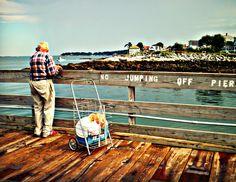 elderly fisherman / salem willows park / salem, ma