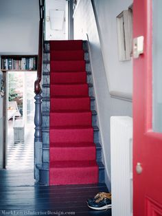 Ruthless stair runner carpet diy stairways strategies exploited amazing we added a splash of colour in this stoke newington property with Victorian Stairs, Victorian Terrace House, Victorian Homes, Hall Carpet, Carpet Stairs, Diy Carpet, Carpet Ideas, Sisal Carpet, Carpet Trends