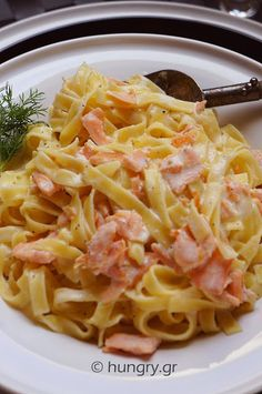 Smoked Salmon, Greek Recipes, Fish And Seafood, Pasta Dishes, Risotto, Recipies, Spaghetti, Sweet Home